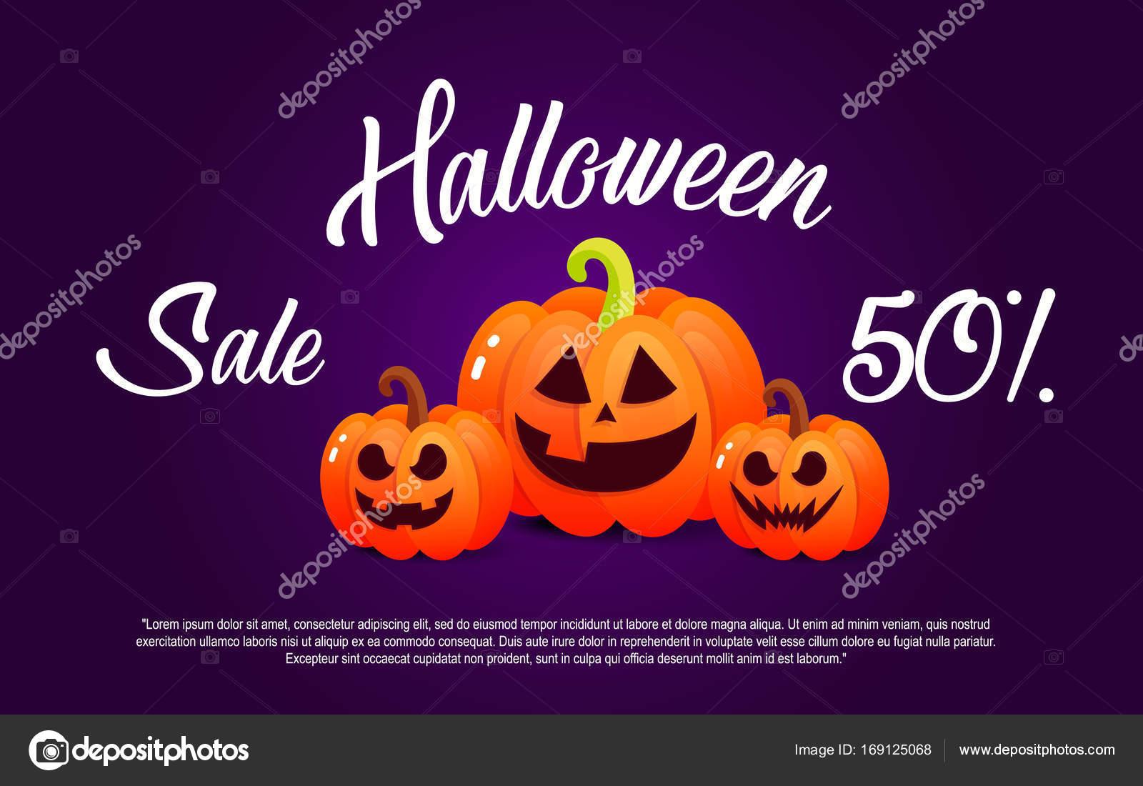 Pompoen En Halloween.Pompoen En Halloween Banier Sale Voor Vakantie