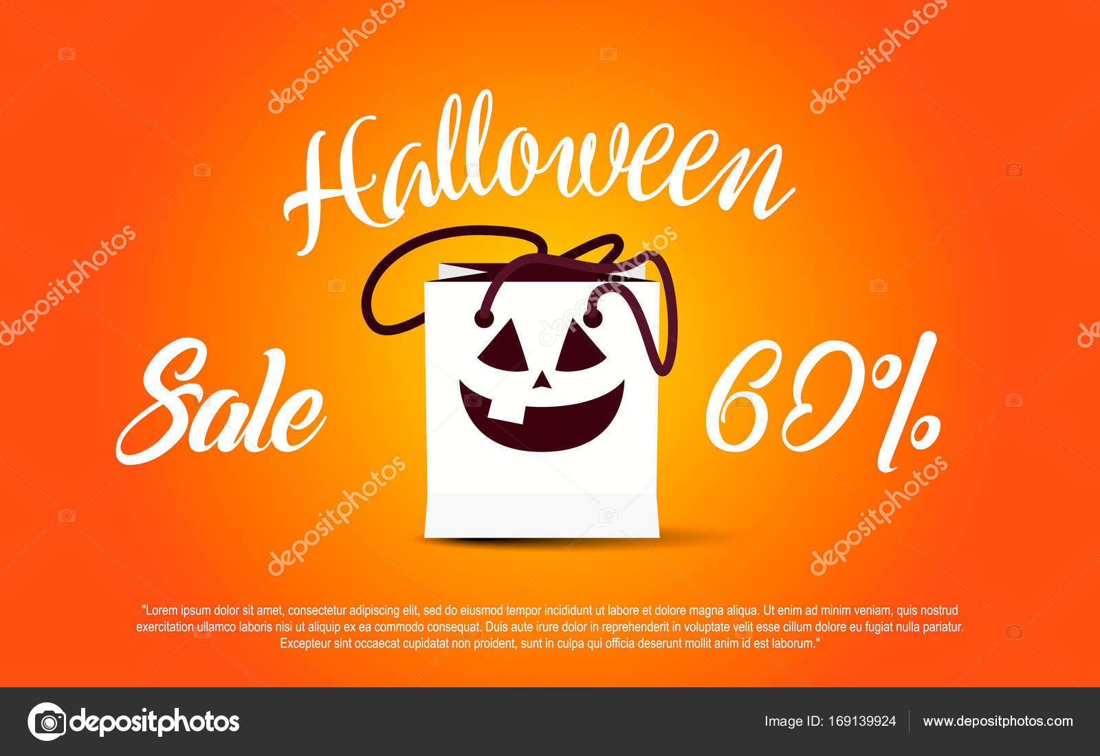 halloween template banner happy halloween message design background
