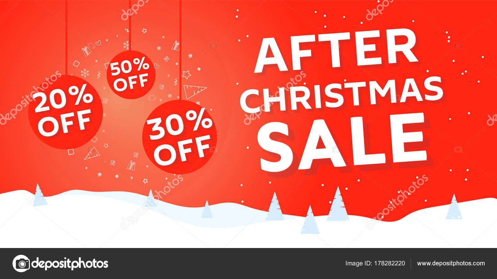 Bilder Nach Weihnachten.Nach Weihnachten Verkauf Banner Stockvektor Irinashatilova