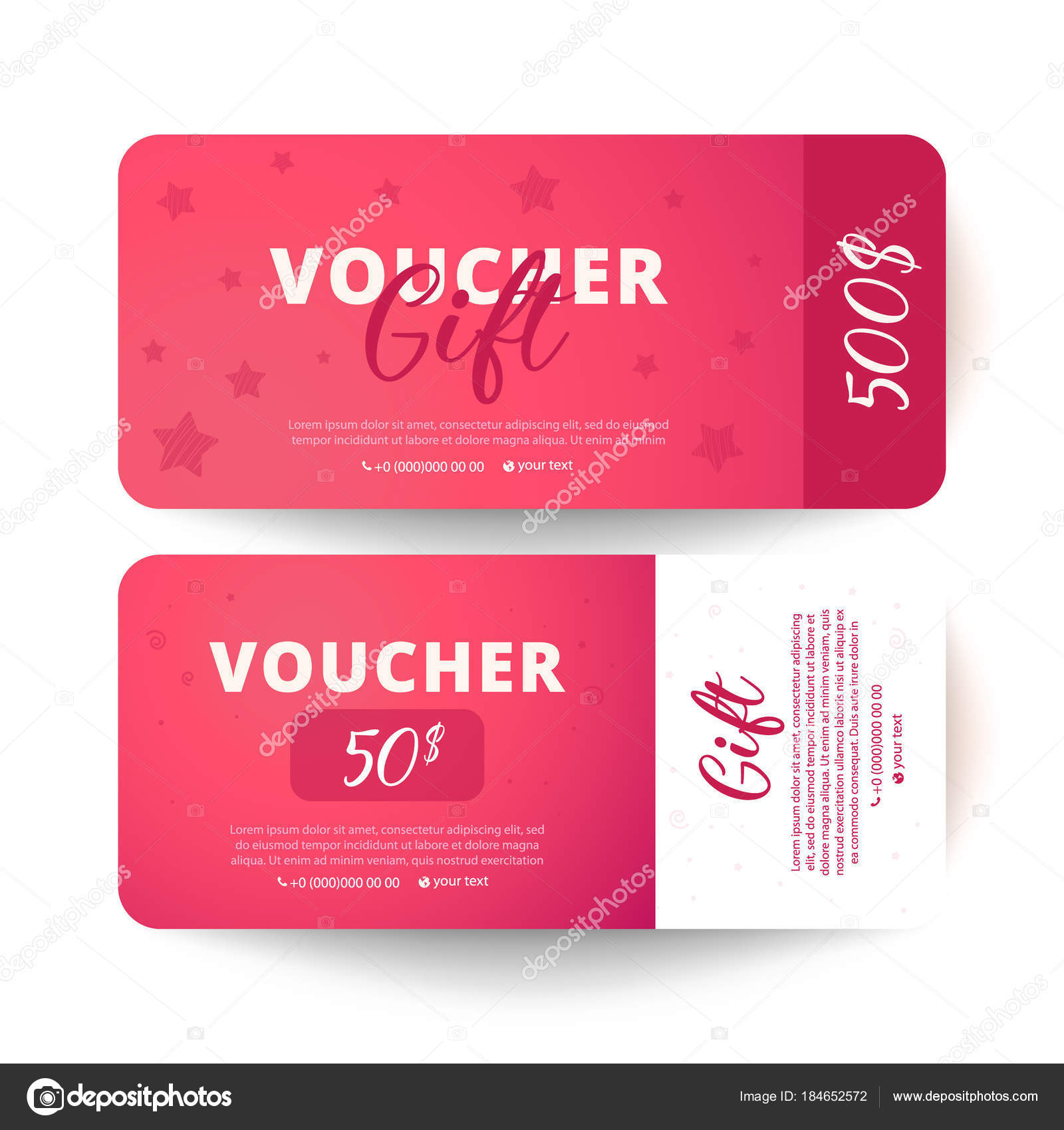 Gift voucher template flat style vector illustration stock gift voucher template flat style vector illustration stock vector yelopaper