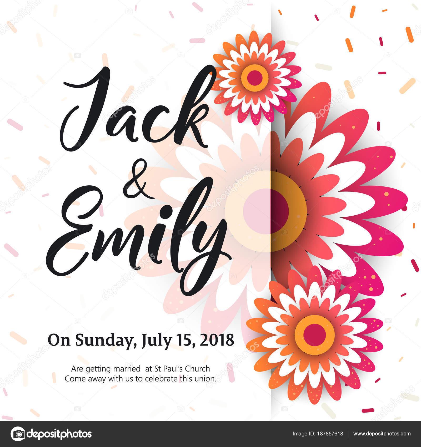 Wedding Invitation, floral invite card Design — Stock Vector ...