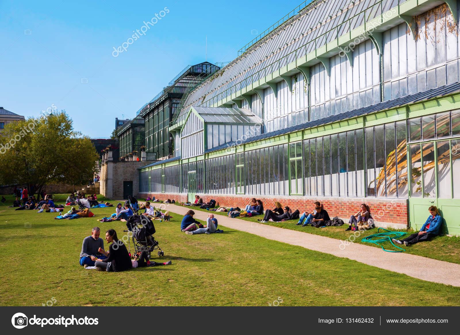 Gewächshaus in den Jardin des Plantes in Paris — Redaktionelles ...