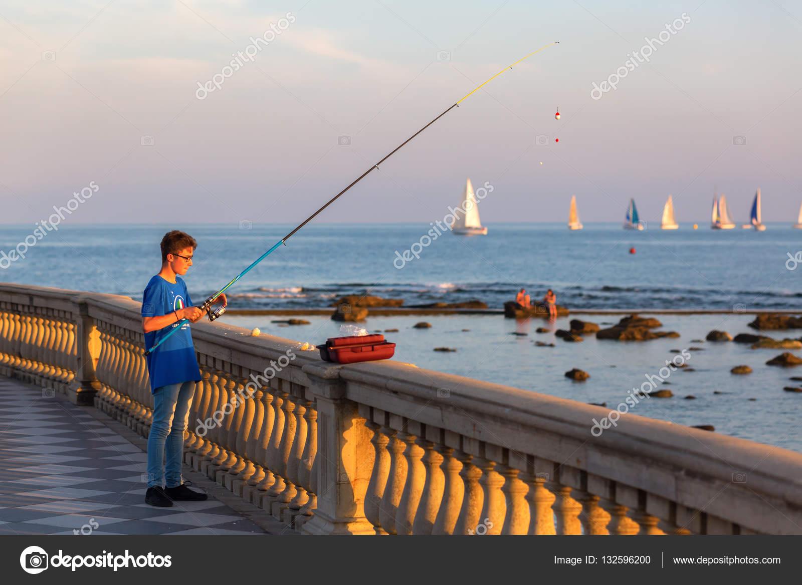 Terrazza Mascagni in Livorno, Italy — Redaktionelles Stockfoto ...