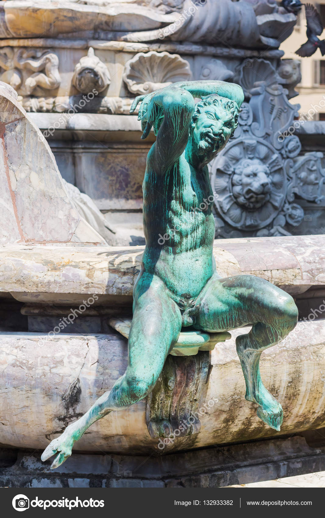 Satyr Statue In Florence, Italy Stock Photo - Image of