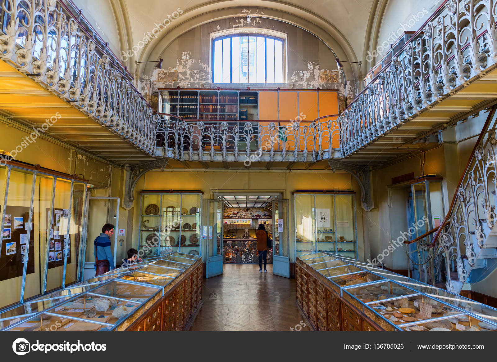 Paris, France - October 16, 2016: Gallery of Palaeontology and ...