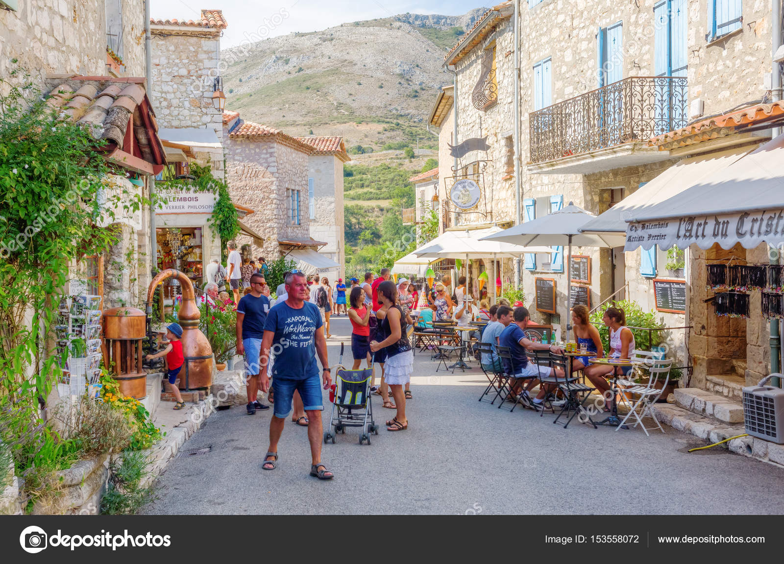 street view of gourdon south france stock editorial photo madrabothair 153558072. Black Bedroom Furniture Sets. Home Design Ideas