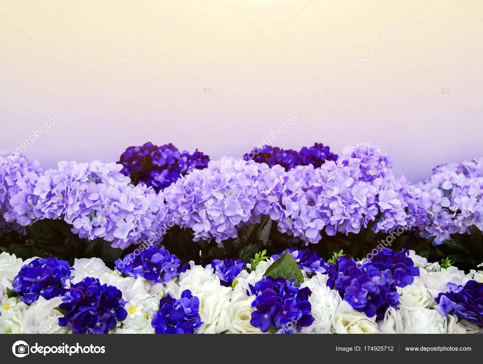 Artificial Purple Flower Bush Stock Photo Yanukit 174925712