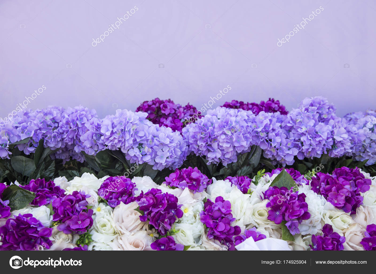 Artificial Purple Flower Bush Stock Photo Yanukit 174925904