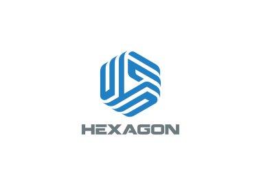 Hexagon Logo abstract corporate design