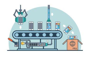 smartphones on conveyor fueling