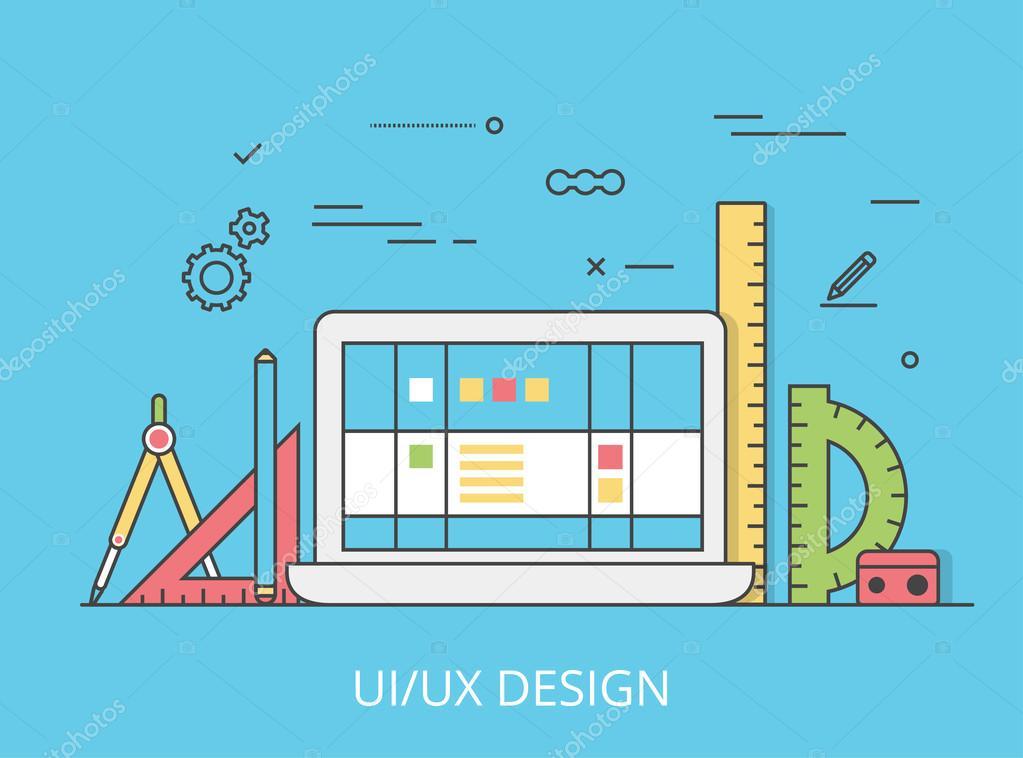 UI/UX interface design web site
