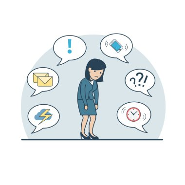 businesswoman shambles from fatigue