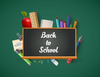 blackboard chalk lettering with education