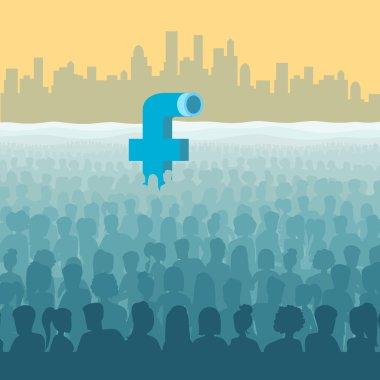 Facebook look like submarine periscope
