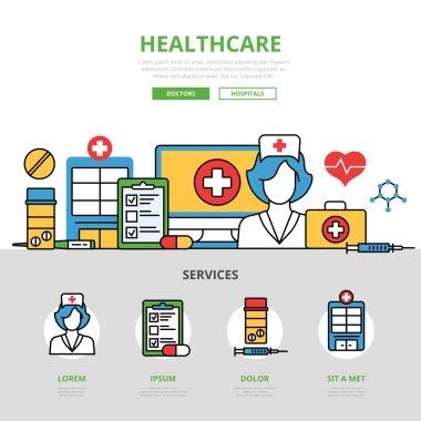 Professional nursing service concept.