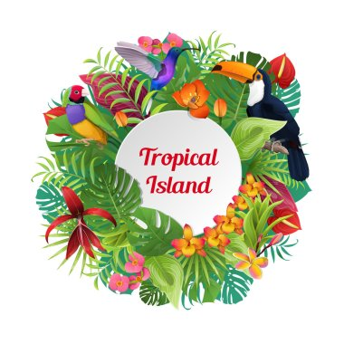 Tropical Island word on wreath