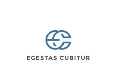 Letters Ligature E C Logo Monogram design