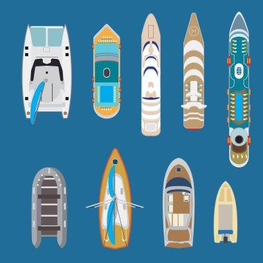 Marine nautical transport concept.