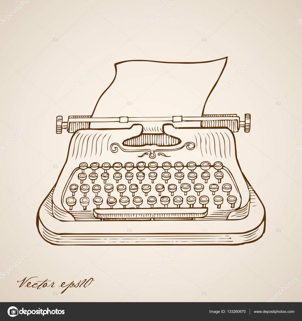 13 Schreibmaschine und Blatt Papier 10