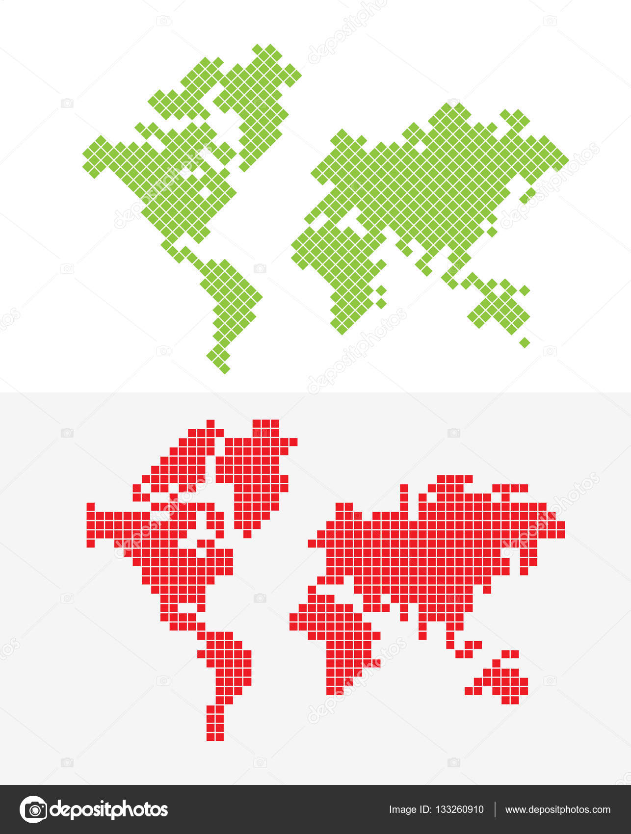 green and red world map stock vector sentavio 133260910