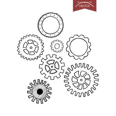 Engraving vintage gearwheels