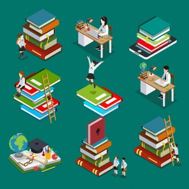 stacks of books icons