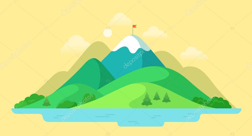 beautiful mountain peak