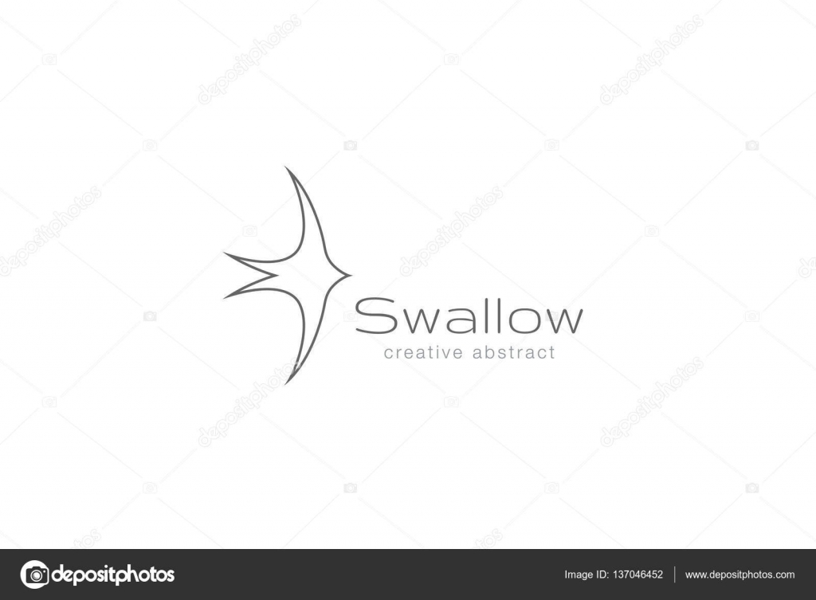 swallow business logo stock vector c sentavio 137046452 depositphotos