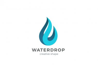 water drop business logo
