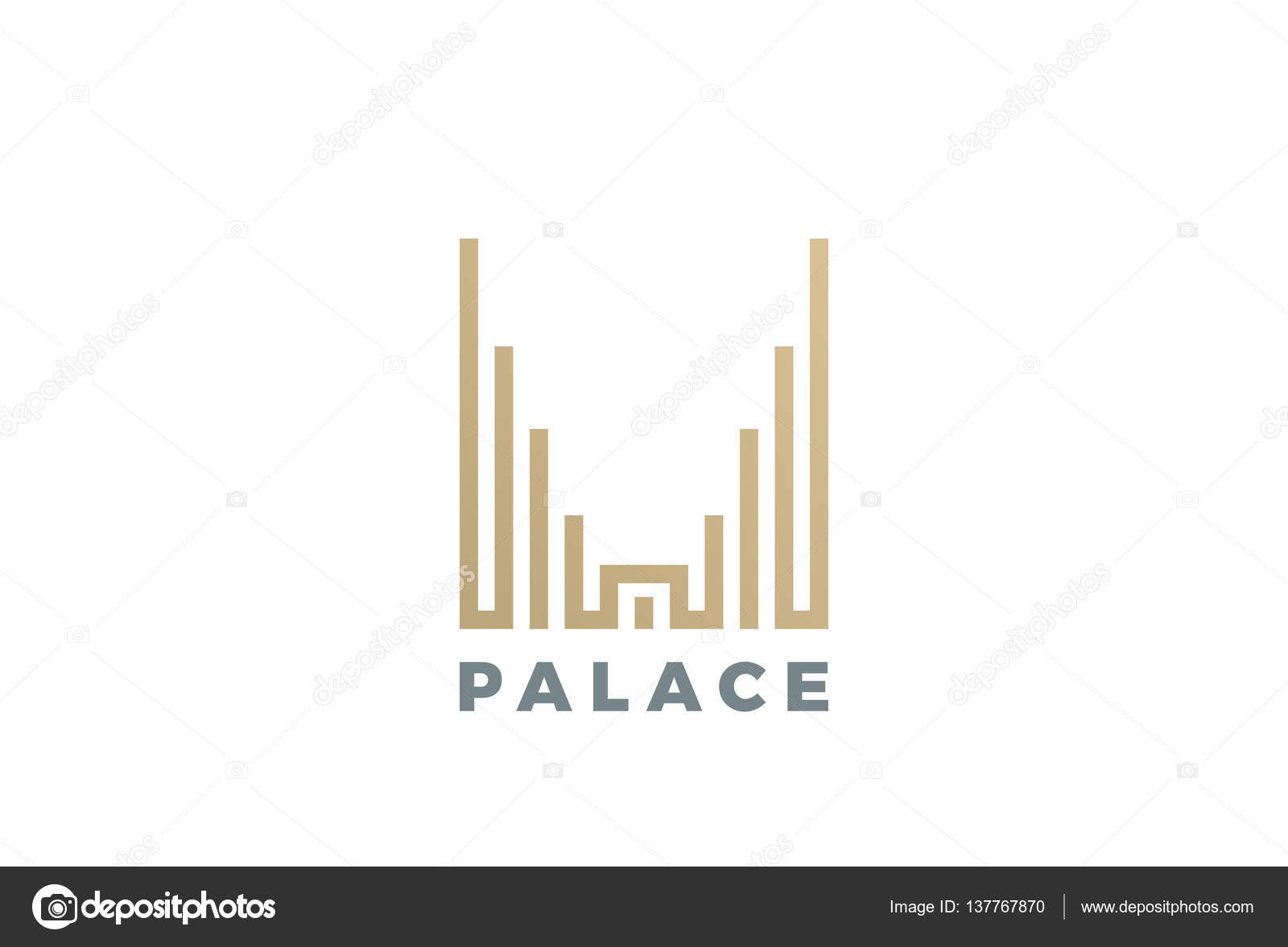 Luxury hotel palace logo design stock vector sentavio for Luxury hotel logo