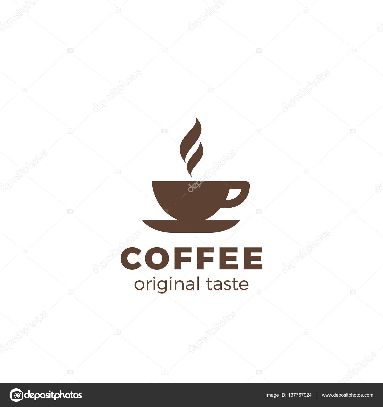 Coffee cup Logo design — Stock Vector © Sentavio #137767924