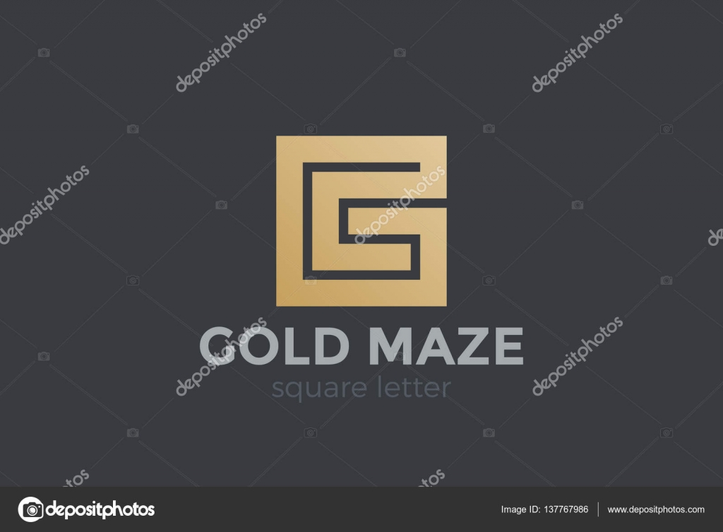 Stock Illustration G Letter Logo Design Template on File Maze Type Standard