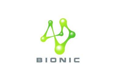 DNA Molecule Bio abstract Logo design