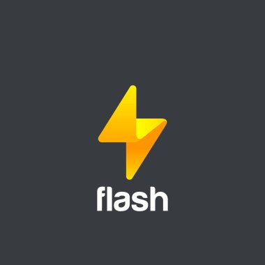Flash Logo design vector template.
