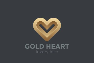Heart Logo design vector template.