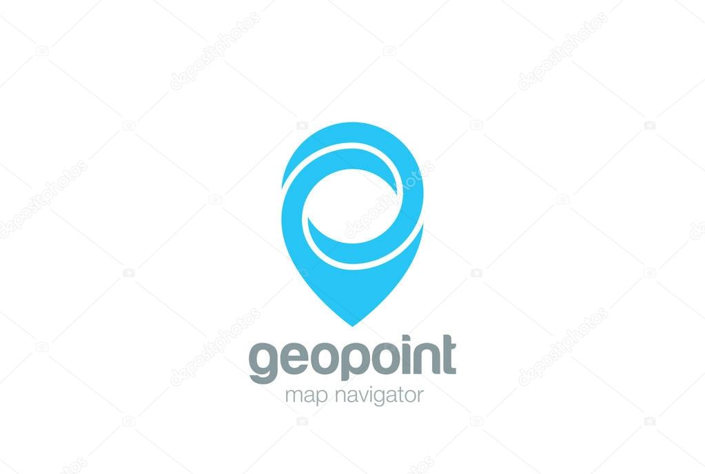 Mapa De Localização De Pontos De Vetor Localização De: Vetor De Projeto Geo Mapa Ponto Localização Logotipo