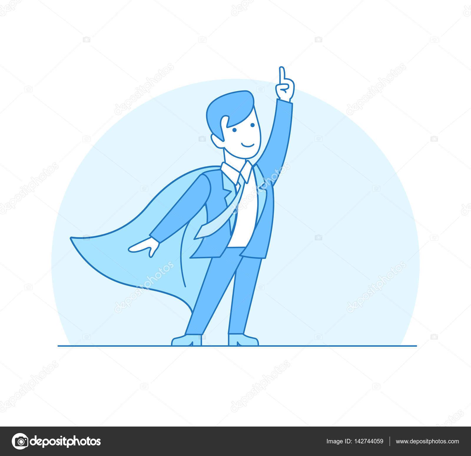 Geschäftsmann in Anzug und Superhelden — Stockvektor © Sentavio ...