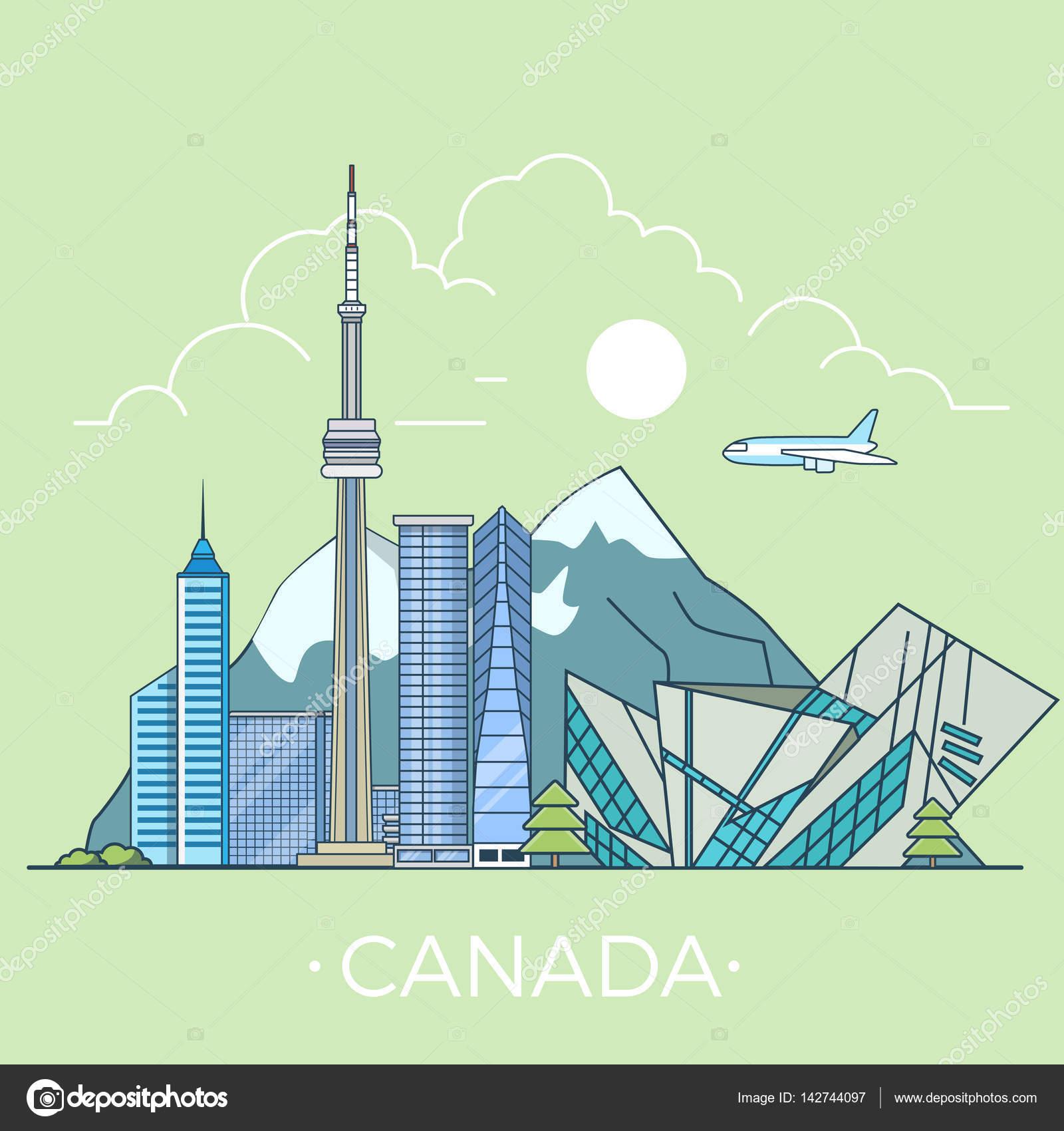 Plantilla de diseño de país de Canadá — Vector de stock © Sentavio ...