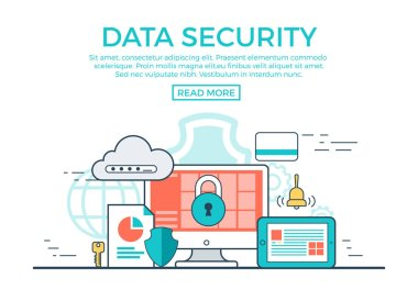 Data Security infographics template