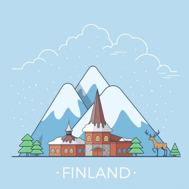Finland country design template.