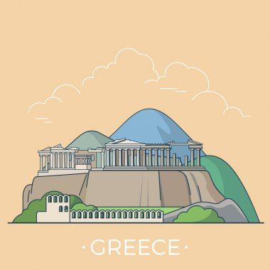 Greece country design template.