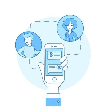 correspondence on smartphone screen