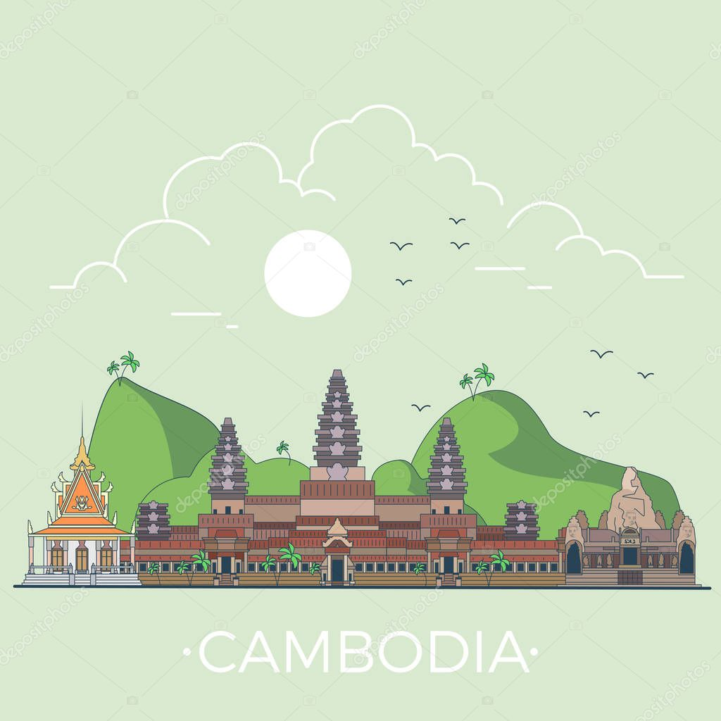 Cambodia country design template.