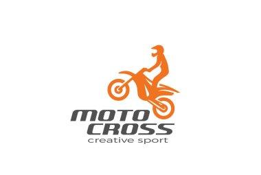 Motocross Bike silhouette Logo