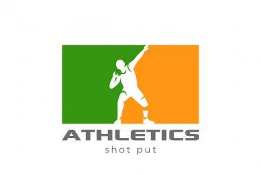 Athlete shot put Logo