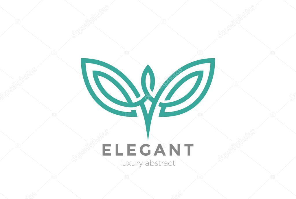 Elegant wings Logo