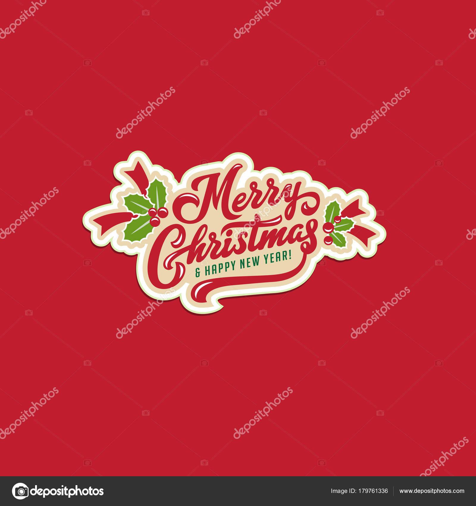 Frohe Weihnachten Und Happy New Year Text Kalligraphischen ...