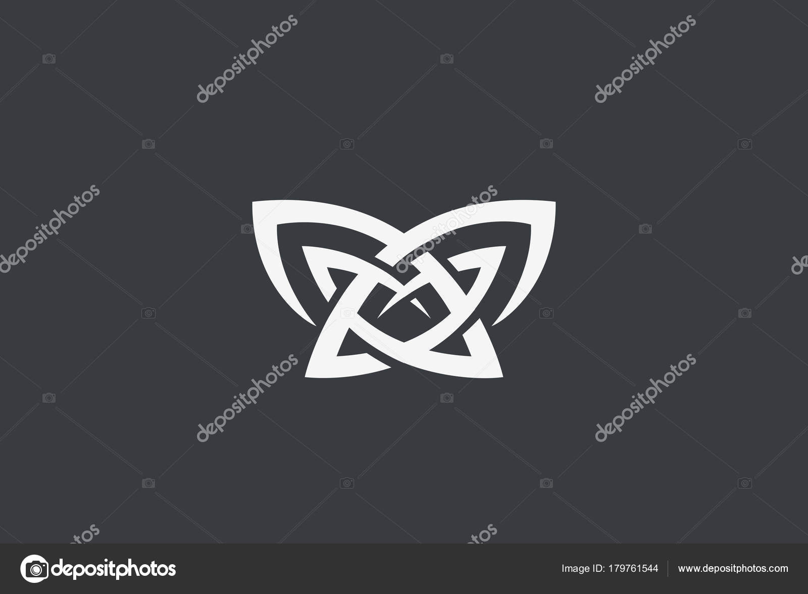 Butterfly Mascot Tattoo Logo Design Vector Template Linear Style ...