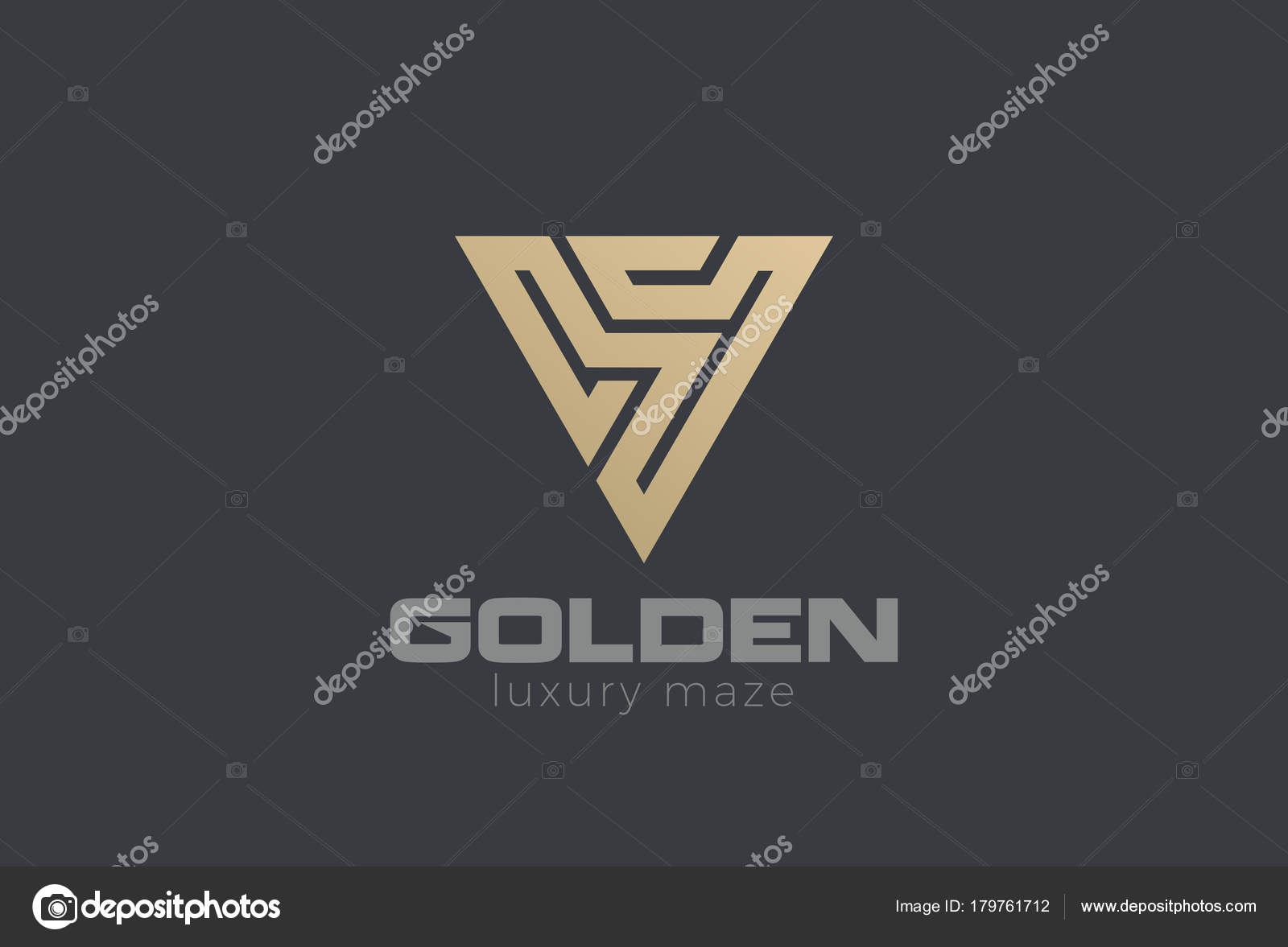 Letter Labyrinth Triangle Logo Abstract Design Vector Template ...