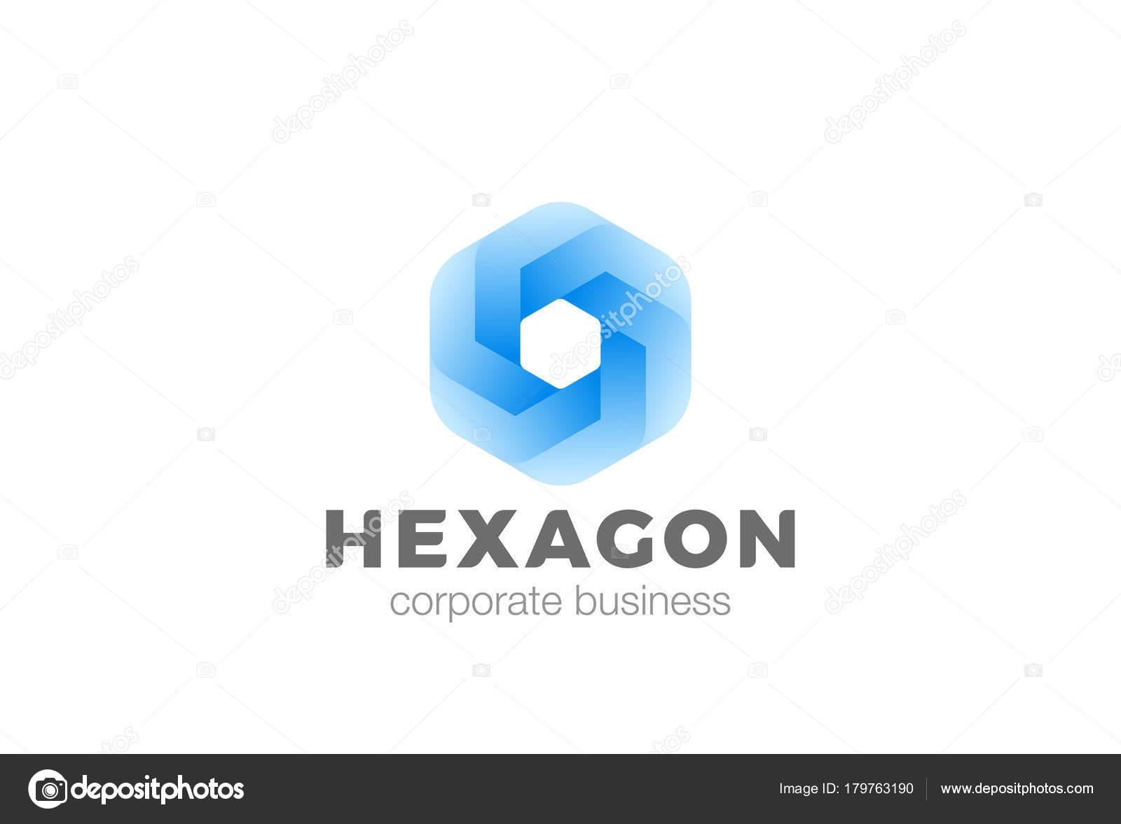 Hexágono Forma Corporativa Logotipo Infinity Diseño Vector Plantilla ...